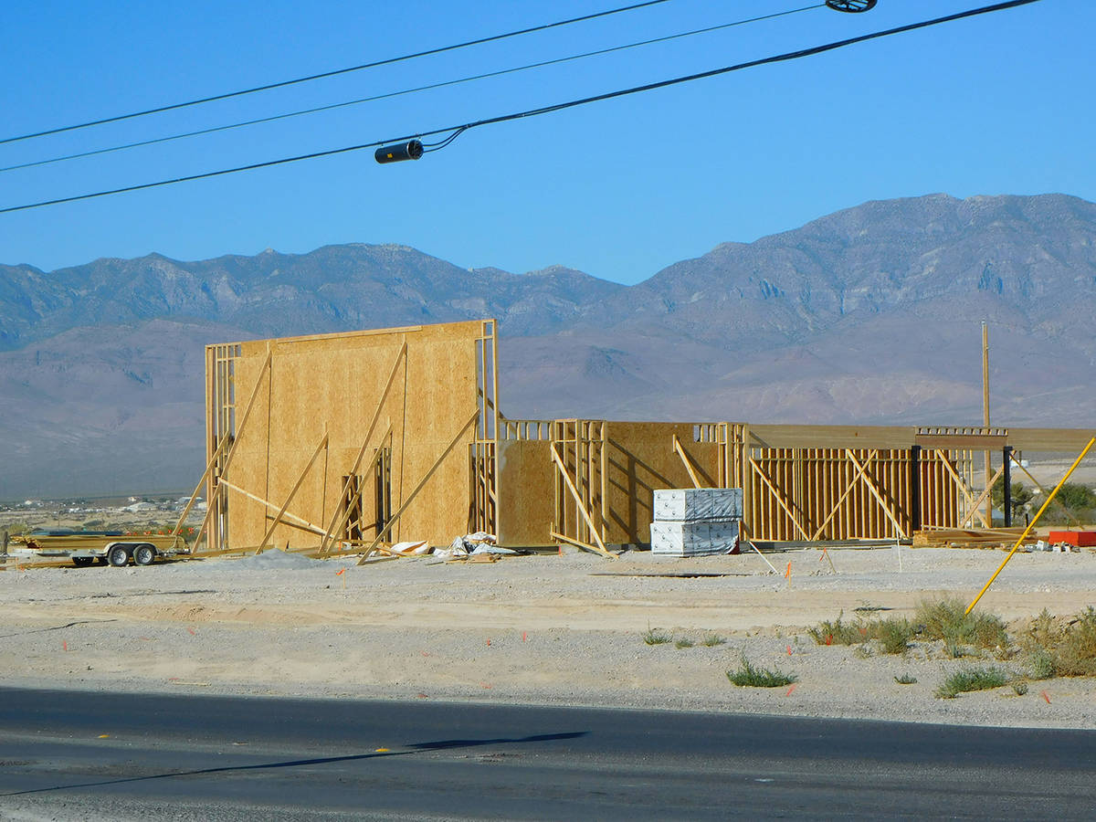 Robin Hebrock/Pahrump Valley Times Taken Thursday, Sept. 3, this photo shows the beginnings of ...