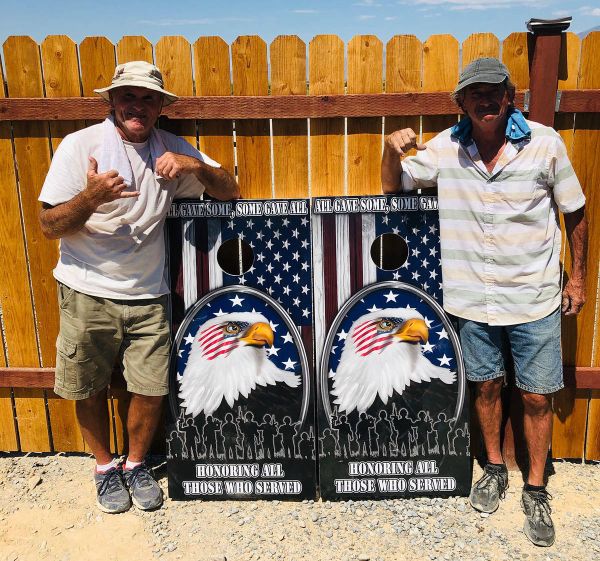 Lathan Dilger/Special to the Pahrump Valley Times Mike Nicosia, left, and Randy Salzwimmer with ...