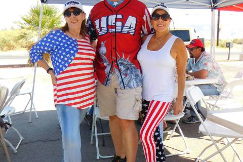 Robin Hebrock/Pahrump Valley Times Pahrump area Trump supporters were out on Saturday, Sept. 5 ...