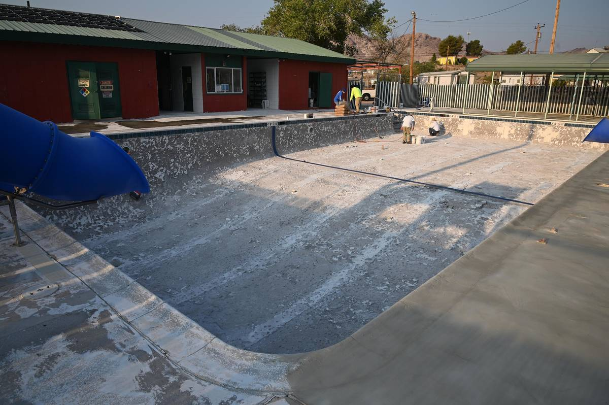Richard Stephens/Special to the Pahrump Valley Times With the pool closed for this season beca ...