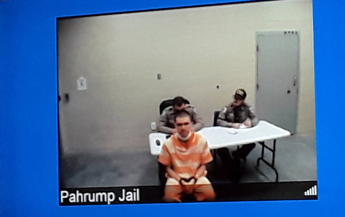Selwyn Harris/Pahrump Valley Times Defendant Michael Wilson tearfully expressed remorse for his ...