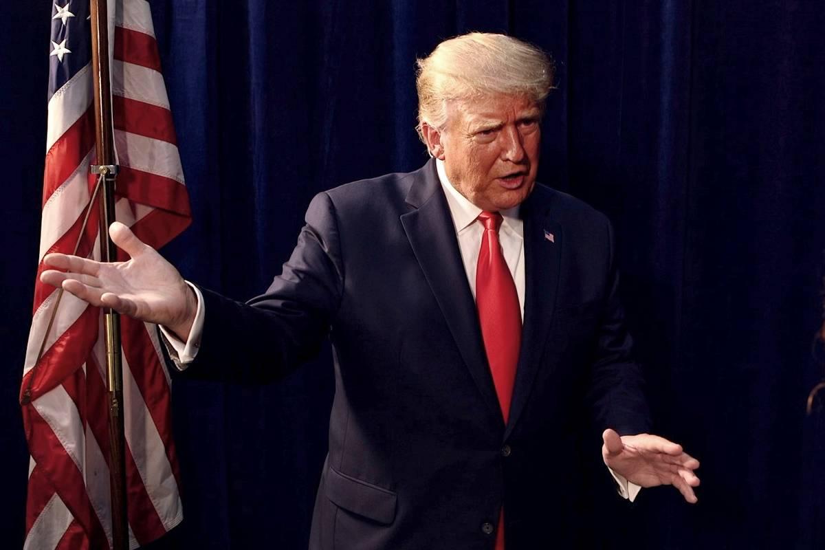 Rachel Aston/Las Vegas Review-Journal President Donald Trump is interviewed by the Las Vegas Re ...