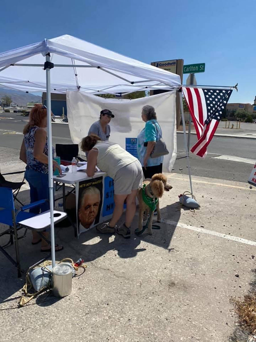 Special to the Pahrump Valley Times Battle Born Patriots has launched a new recall effort and i ...