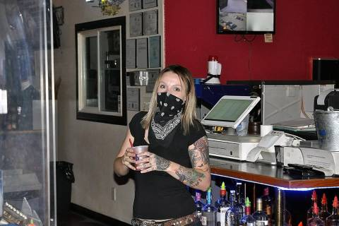 Horace Langford Jr./Pahrump Valley Times At Vince Neil's Tatuado Wild Side Tavern, bartender Br ...