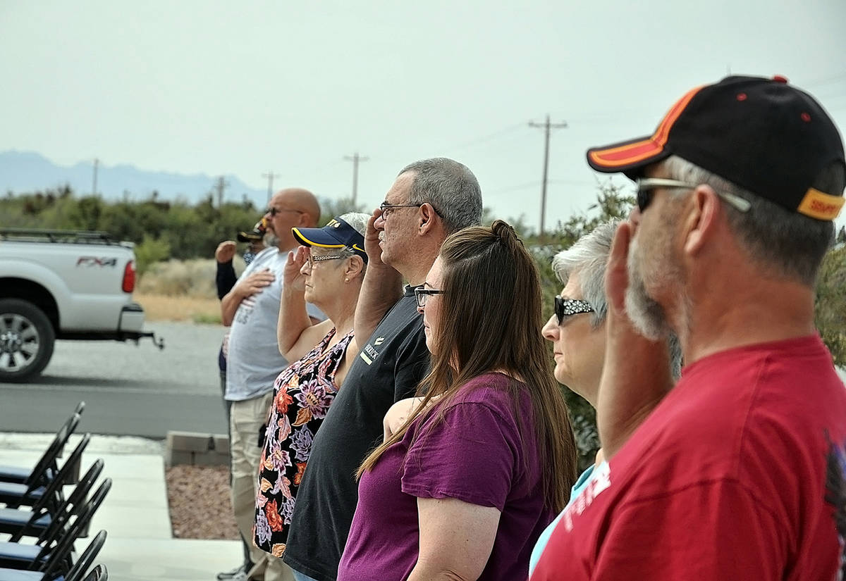 Horace Langford Jr./Pahrump Valley Times VFW Post Commander Marty Aguiar said upward of 40 are ...