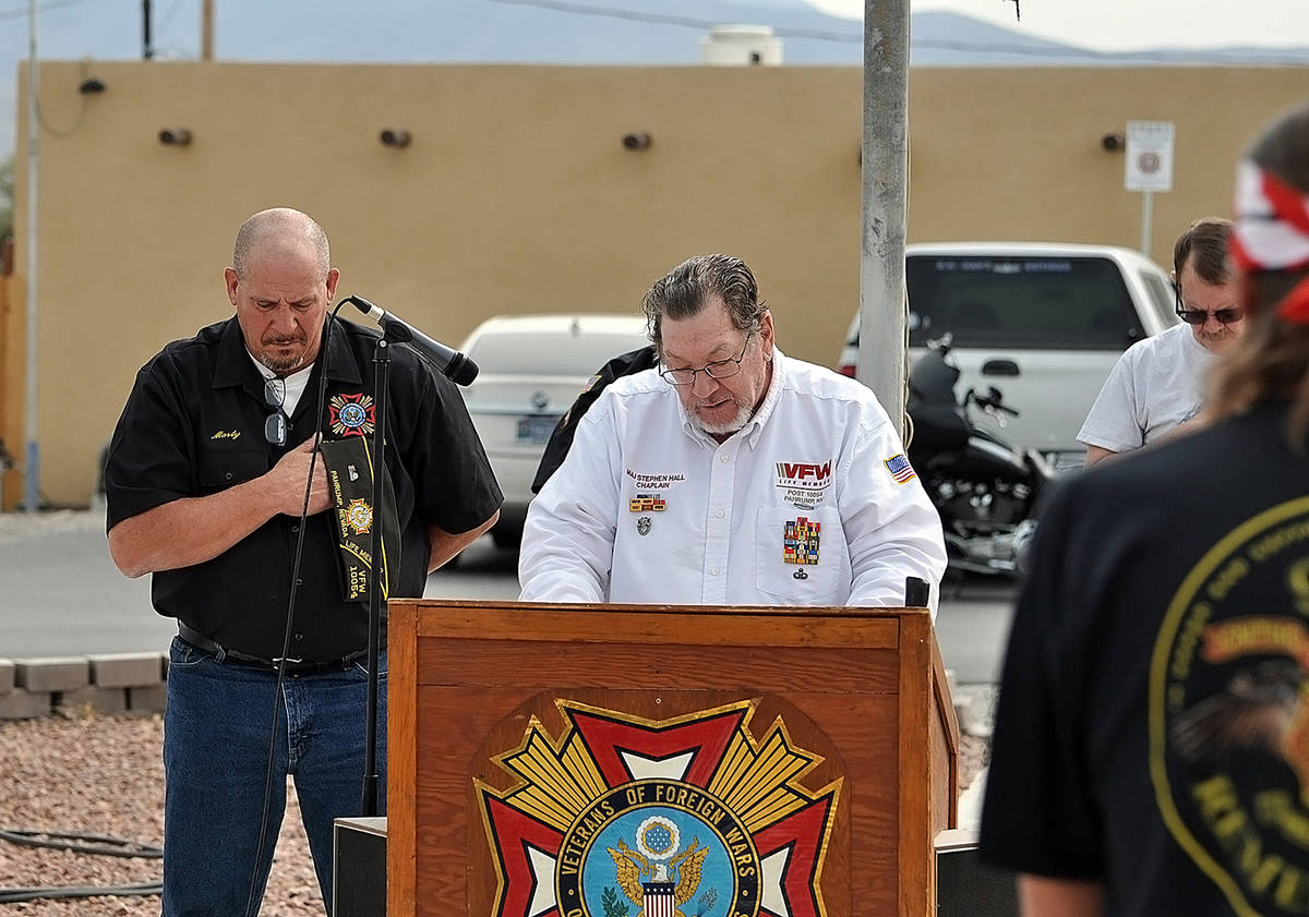 Horace Langford Jr./Pahrump Valley Times VFW Post 10054 Chaplain Major Stephen Hall provided t ...
