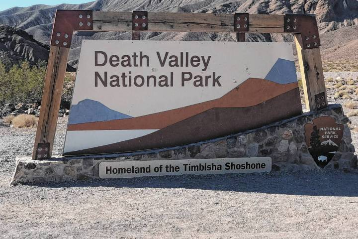 Jeffrey Meehan/Pahrump Valley Times Due to very dry and windy conditions, officials at Death Va ...