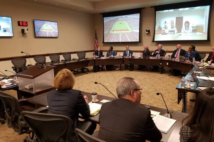 The Nevada Board of Regents is the subject of Nevada Statewide Ballot Question 1, which calls f ...