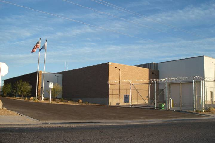 Special to the Pahrump Valley Times The Nye County Detention Center in Pahrump was funded by a ...