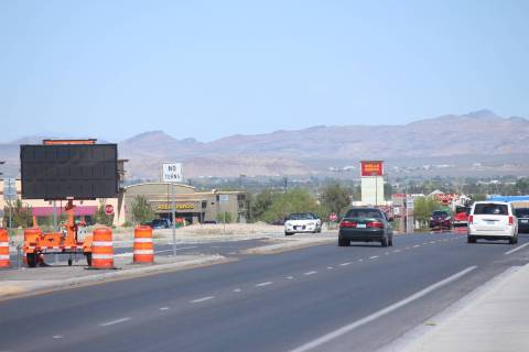 Jeffrey Meehan/Pahrump Valley Times The federal funding also helps continue to fund certain roa ...