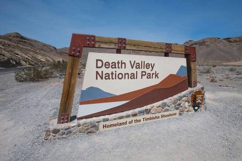 Las Vegas Review-Journal-file A sign marks the entrance to Death Valley National Park, Calif., ...