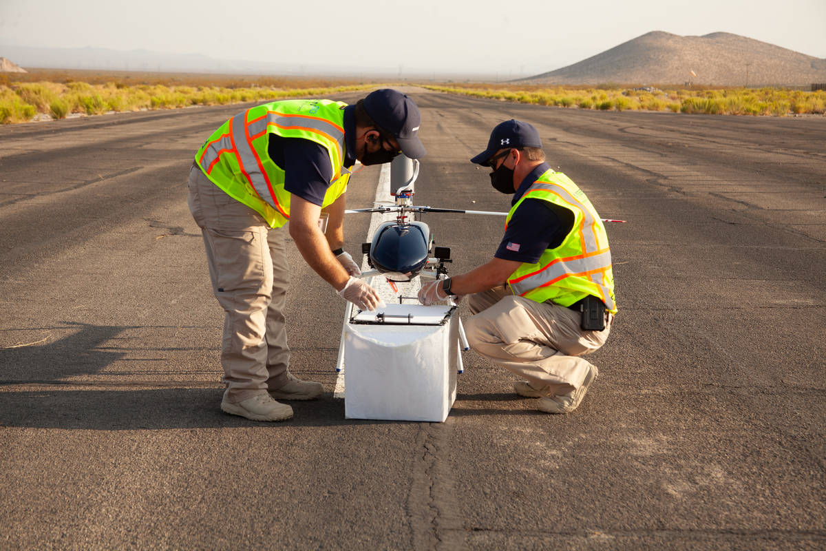 Drones carrying human organs flew over Las Vegas last week to see whether drones can save cruci ...
