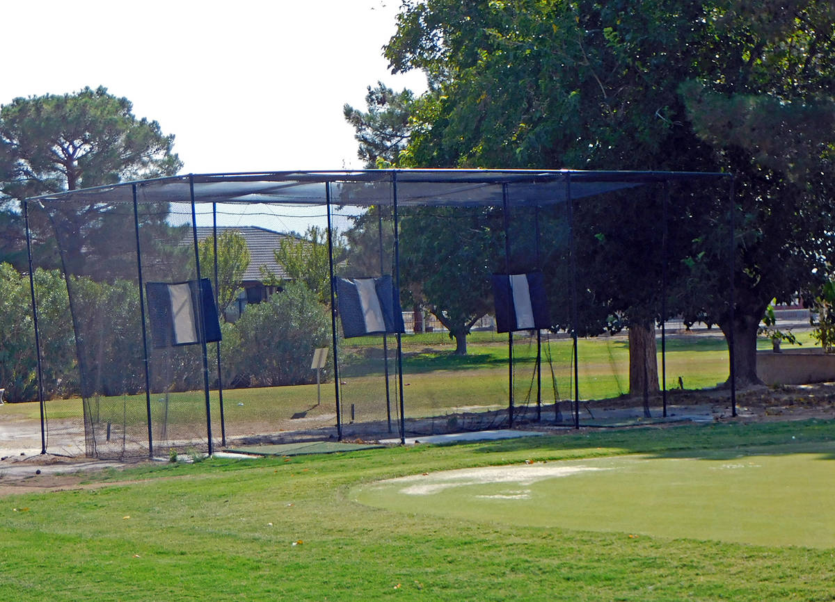 Robin Hebrock/Pahrump Valley Times The addition of a three-stall driving range is just one of t ...