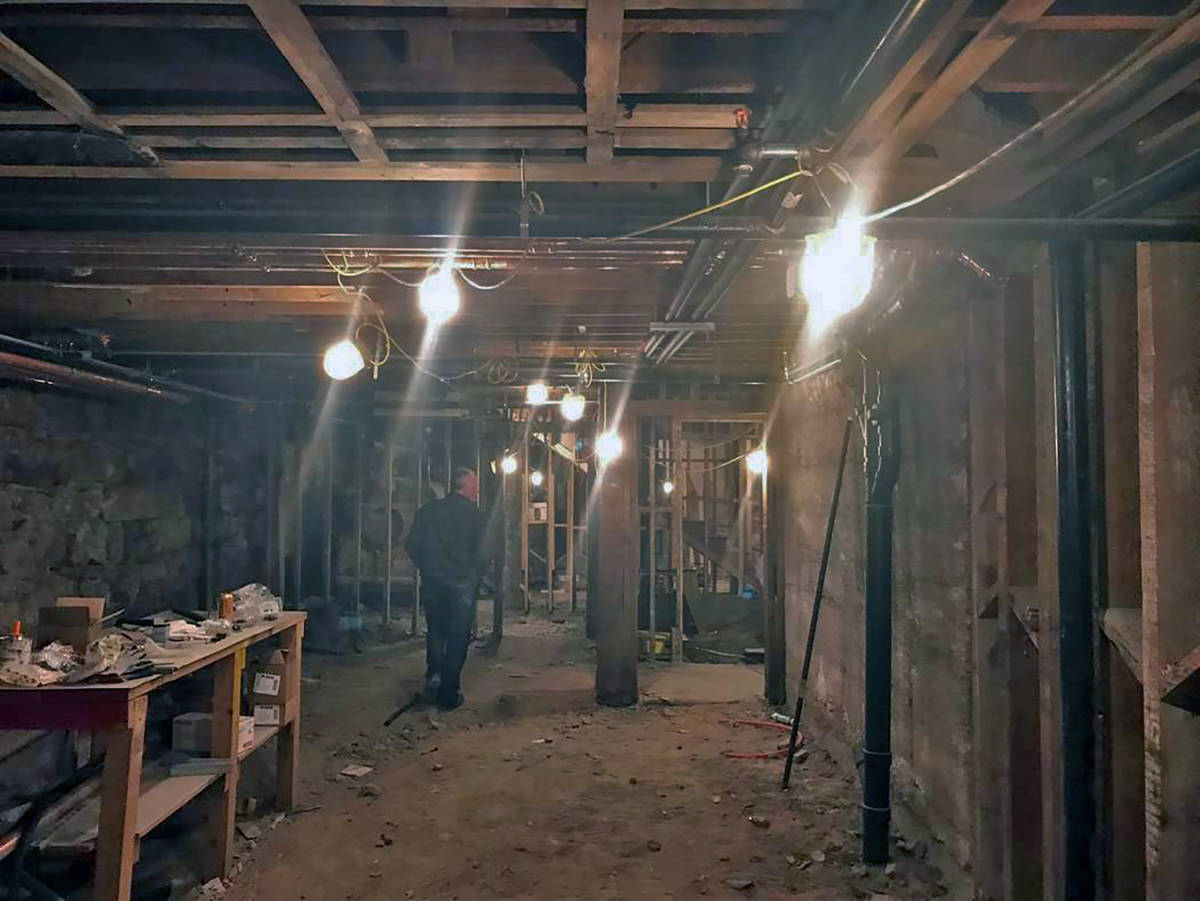 Jeff Meehan/Tonopah Times John McCormick is pictured walking through the basement of the Belvad ...