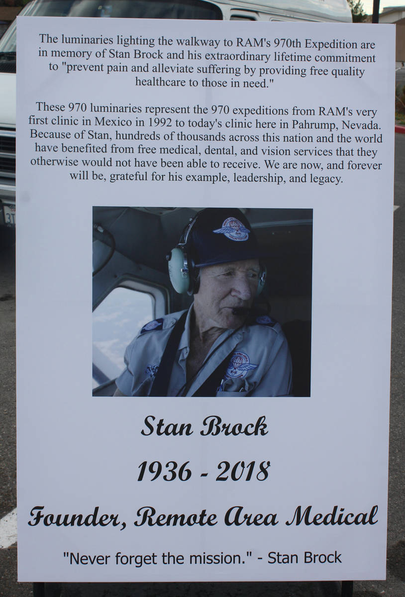 Robin Hebrock/Pahrump Valley Times Stan Brock founded the nonprofit organization Remote Area M ...