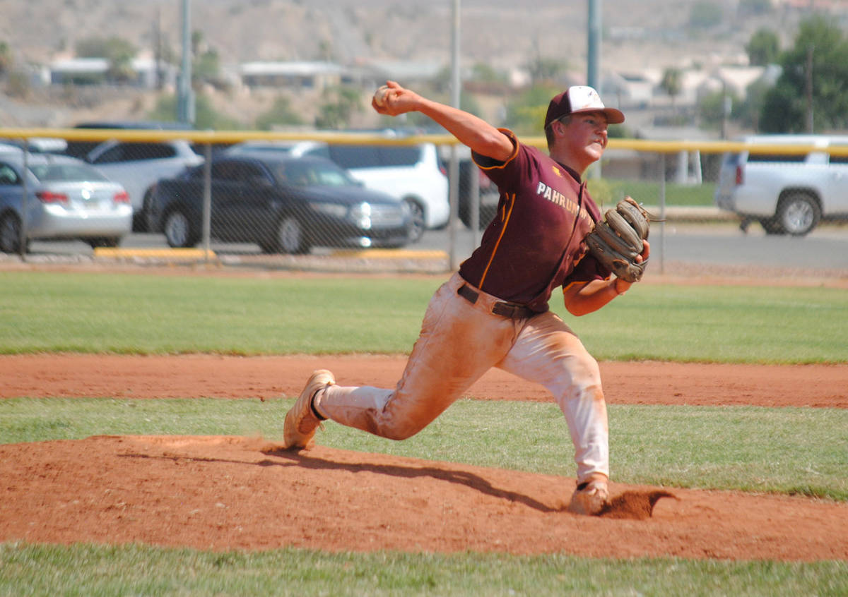 Charlotte Uyeno/Pahrump Valley Times Kyle McDaniel retired all five batters he faced, four by s ...