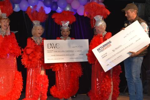 Special to the Pahrump Valley Times Nevada Silver Tappers founder B.J. Hetrick-Irwin was floore ...