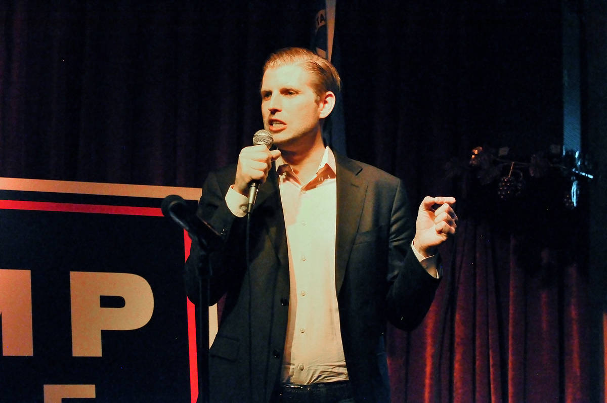 Horace Langford Jr./Pahrump Valley Times - Eric Trump, son of Republican presidential candidat ...
