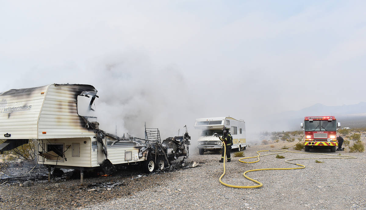 Special to the Pahrump Valley Times On Sept. 18, fire crews responded to a report of a structur ...