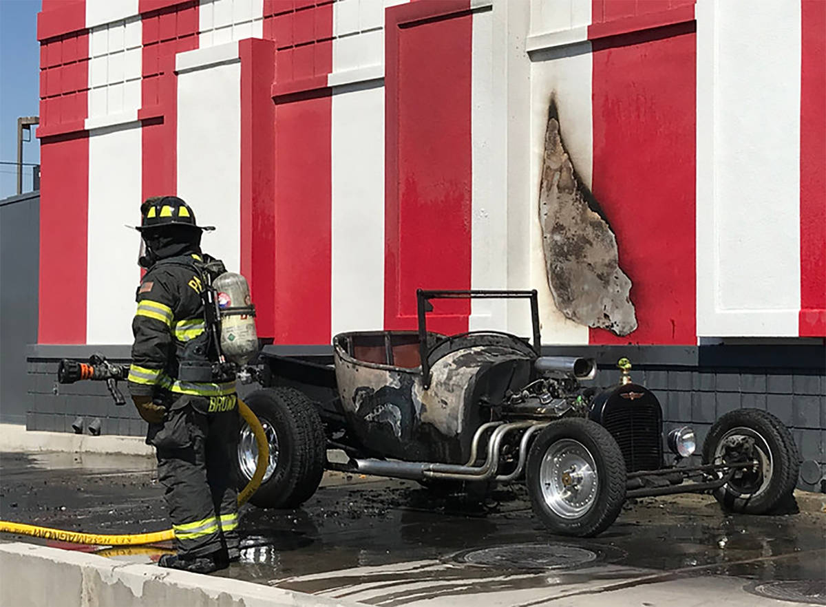 Special to the Pahrump Valley Times An antique classic T-Bucket hot rod sustained major damage ...