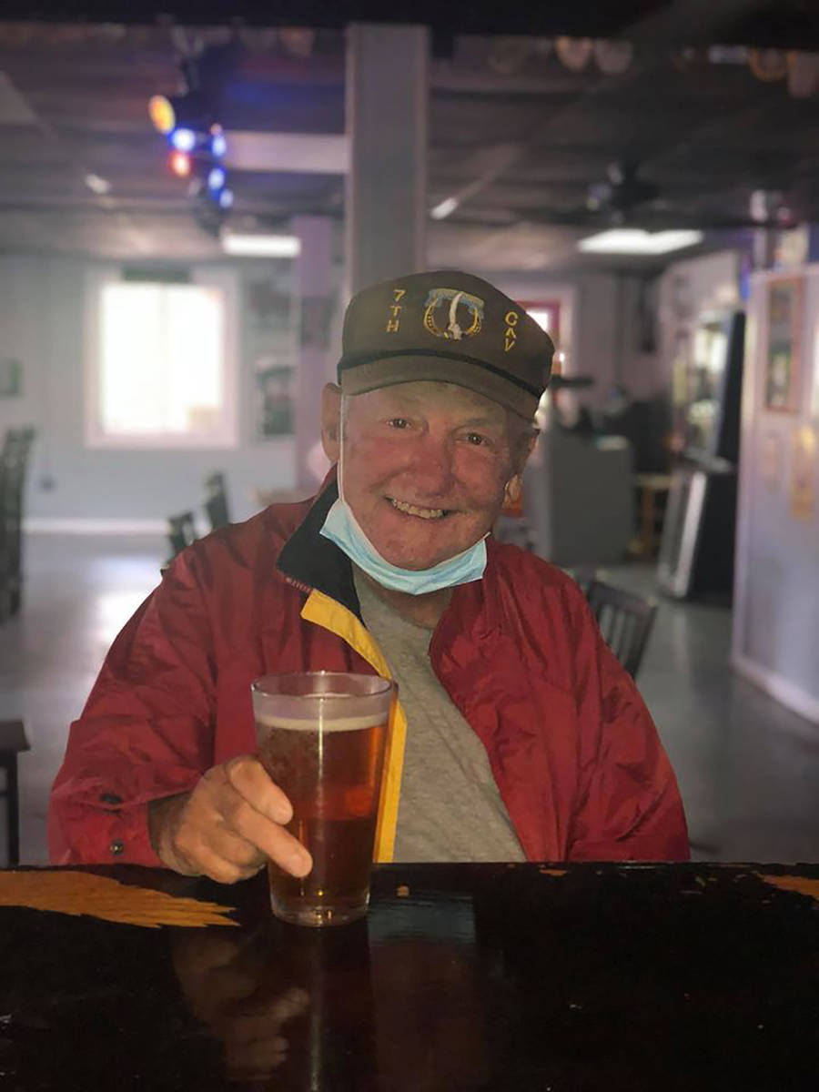 Special to the Pahrump Valley Times In one of his last photos before his death, Mark Smith, 72, ...