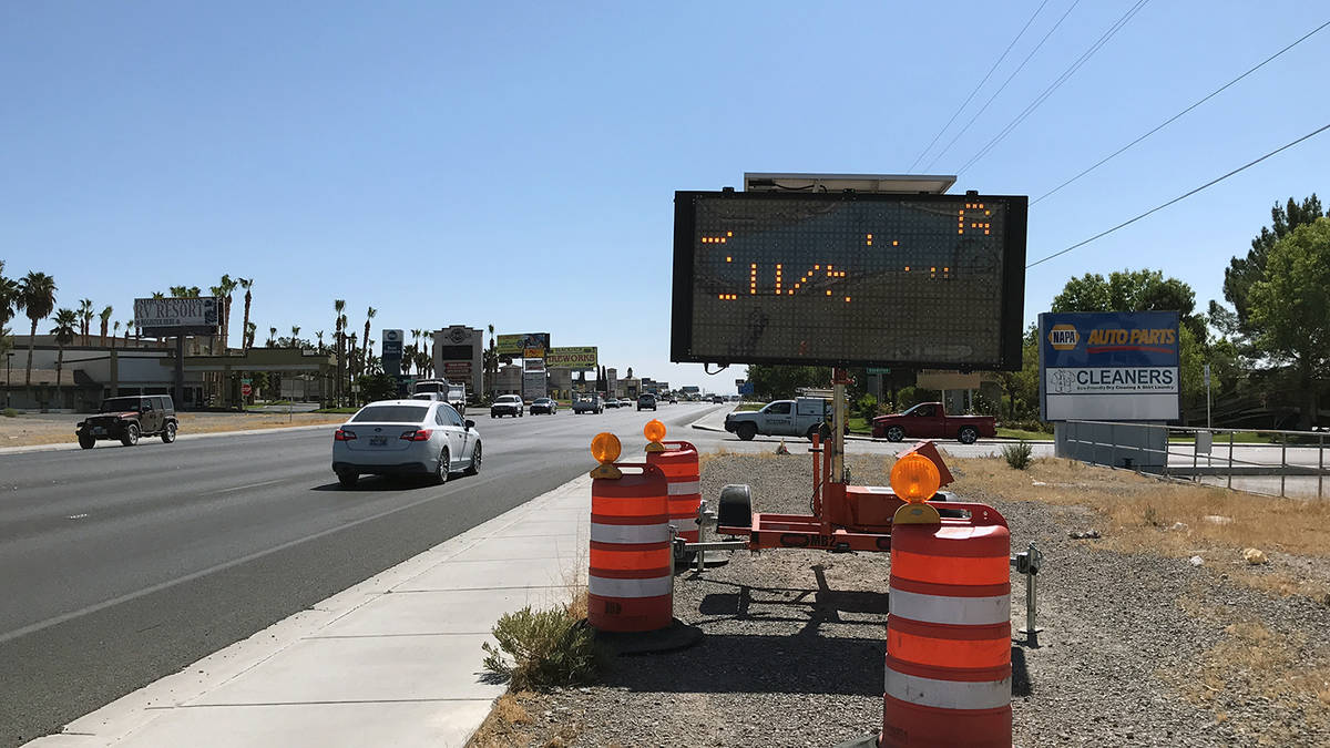 Robin Hebrock/Pahrump Valley Times Taken Tuesday, Sept. 29, this photo shows the electronic not ...