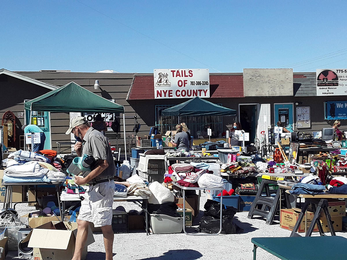 Selwyn Harris/Pahrump Valley Times A huge weekend yard sale will take place at the Tails of Nye ...