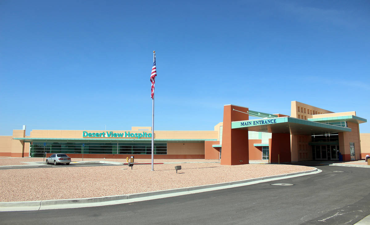 Jeffrey Meehan/Pahrump Valley Times Desert View Hospital is one of the in-network hospitals for ...
