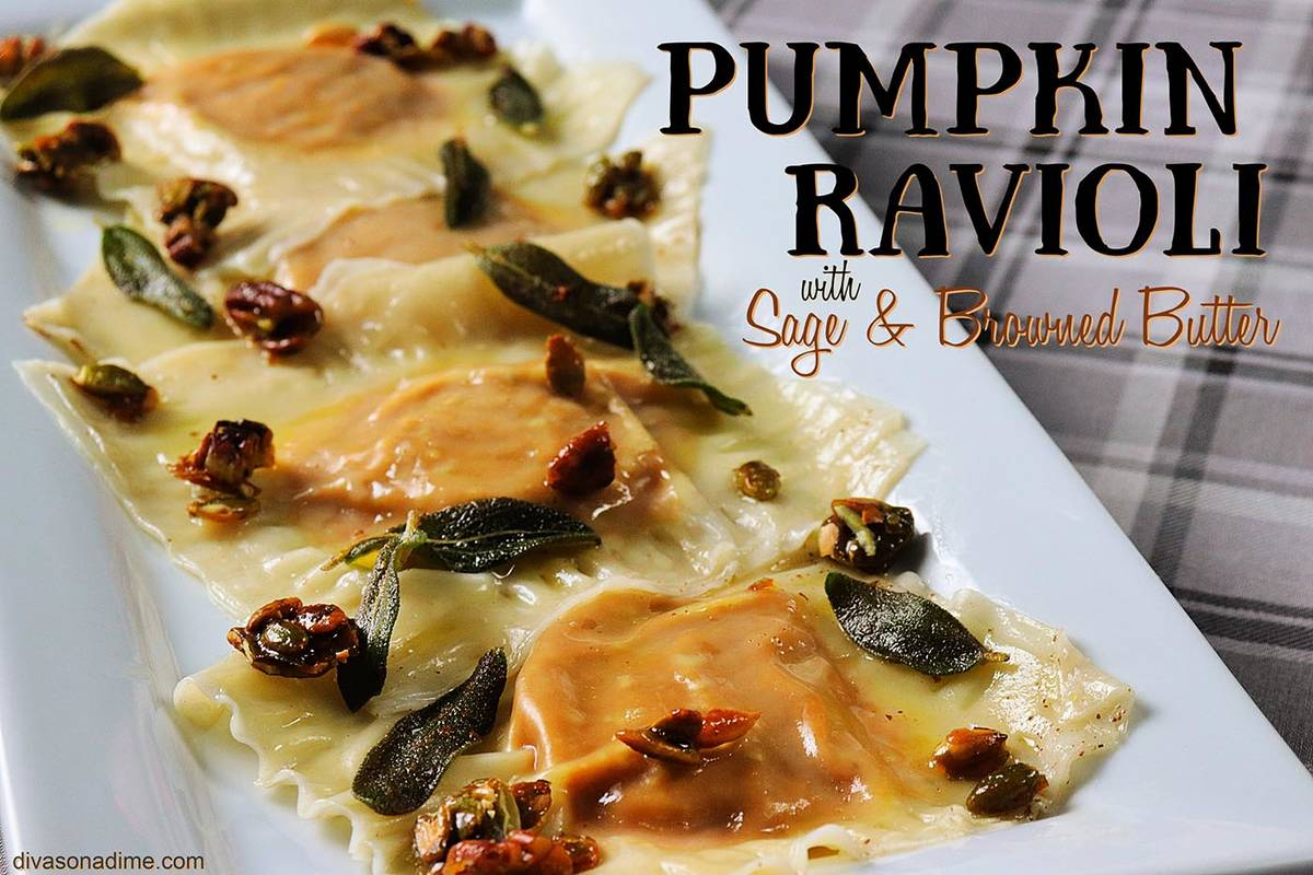 Patti Diamond/Special to the Pahrump Valley Times Homemade ravioli stuffed with beautifully sea ...