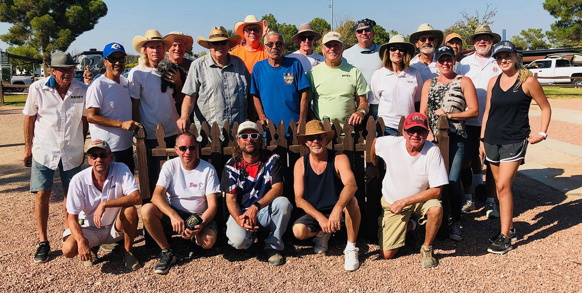 Jim Hatch/Special to the Pahrump Valley Times The Octofest horseshoes tournament on Oct. 3 drew ...