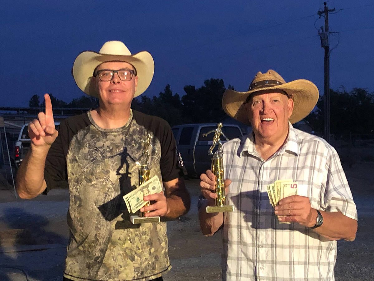 Jim Hatch/Special to the Pahrump Valley Times Lathan Dilger, left, and Dennis Andersen teamed t ...