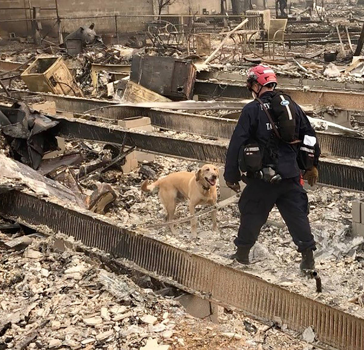 Special to the Pahrump Valley Times Nevada National Security Site firefighter Michael Porter wi ...