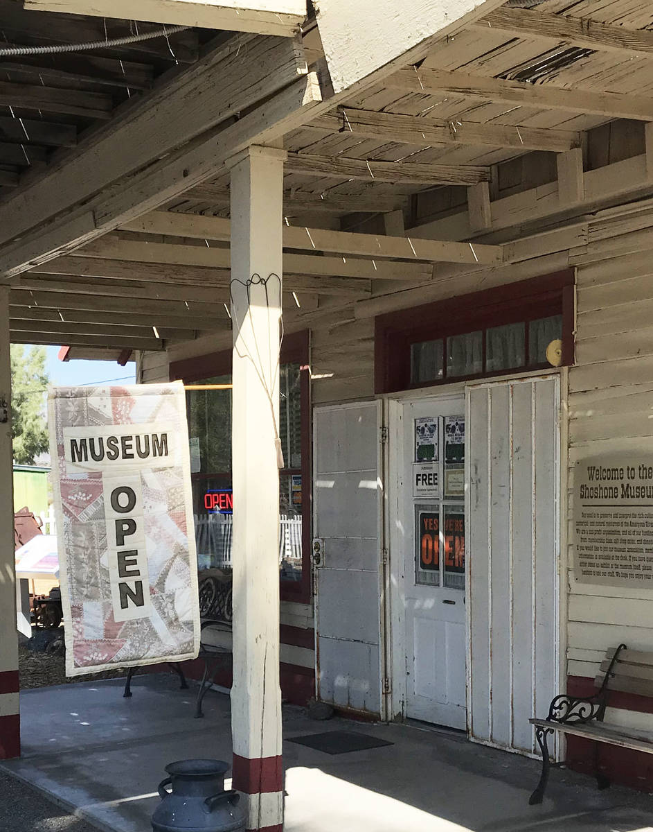 Robin Flinchum/Special to the Pahrump Valley Times The Shoshone Museum reopened Oct. 1, after b ...