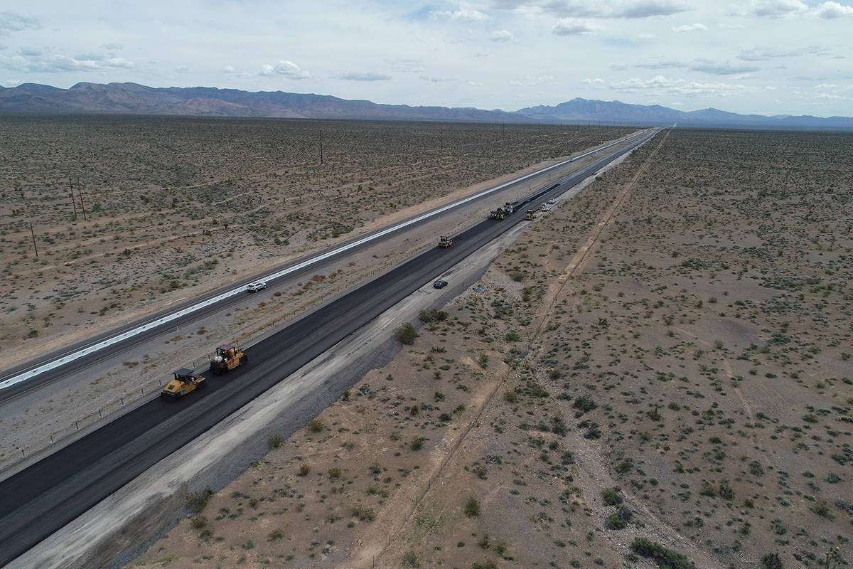 Nevada Department of Transportation Nevada State Route 160 construction is coming to a close.