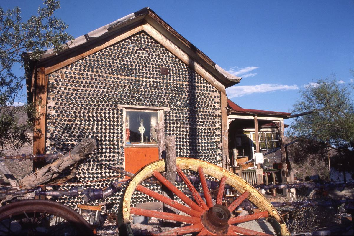 Richard Stephens/Special to the Pahrump Valley Times The Bottle House in Rhyolite as pictured i ...