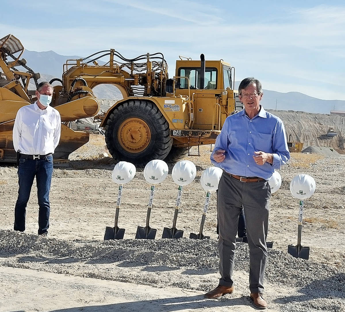 Horace Langford Jr./Pahrump Valley Times ARES North American Chief Development Officer Russ Wee ...