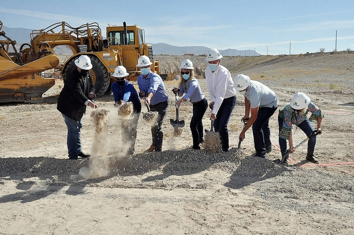 Horace Langford Jr./Pahrump Valley Times A groundbreaking ceremony for the new GravityLine pro ...