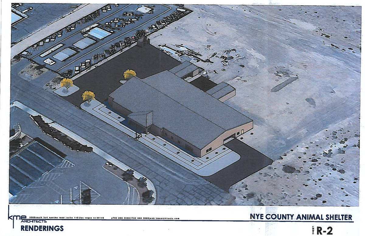 Special to the Pahrump Valley Times This rendering shows a birds-eye view of the new animal she ...