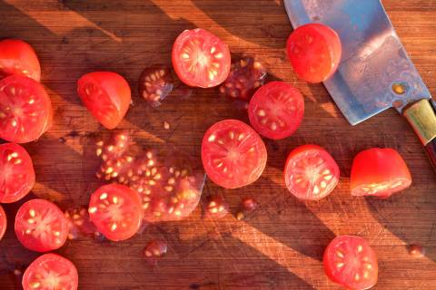 Getty Images Tomato seeds are encased in a gel-sac and need to be fermented to remove it befor ...