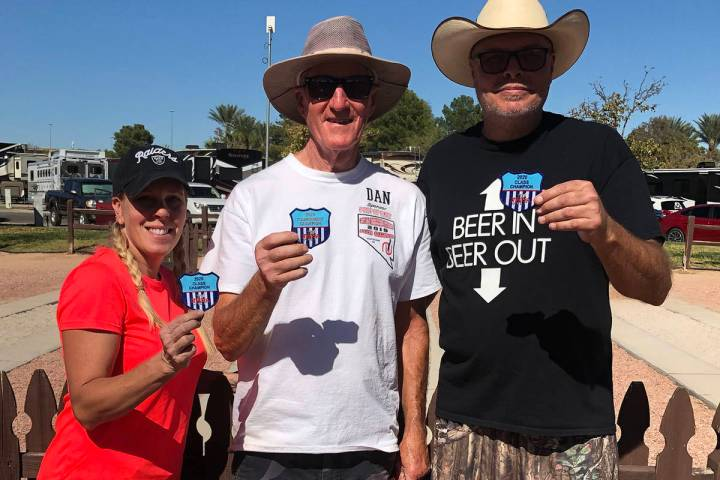 Scott Hardy/Special to the Pahrump Valley Times From left, C Division champion Sheri Dilger, A ...