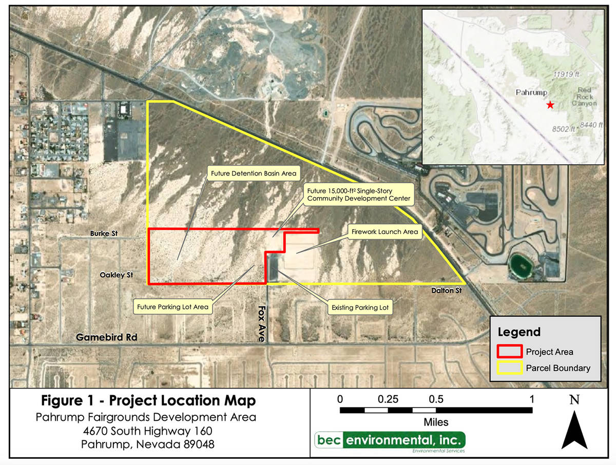 Special to the Pahrump Valley Times This photo shows a project location map provided in documen ...