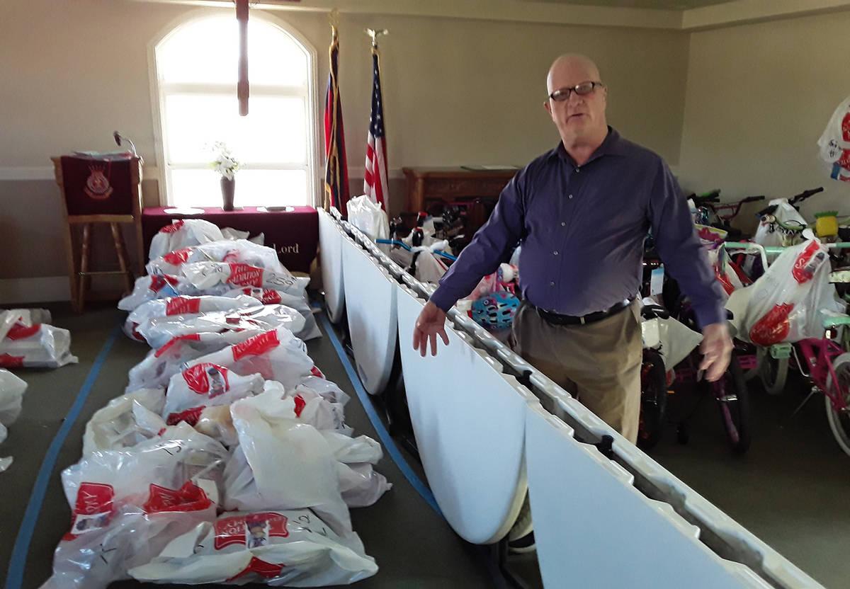 Selwyn Harris/Pahrump Valley Times In this file photo, Salvation Army Pastor Jon Watt is shown ...