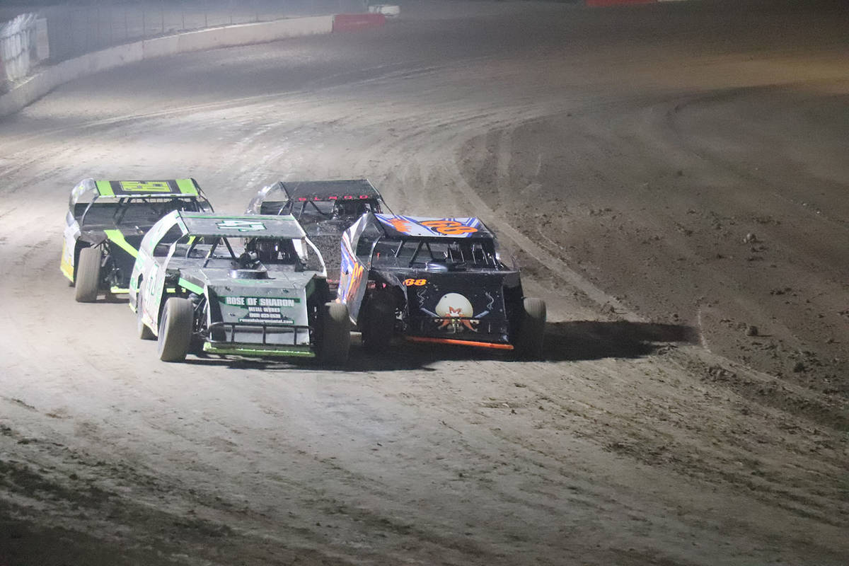 Digital Storm Photography/Special to the Pahrump Valley Times The Modifieds on the track Oct. 1 ...