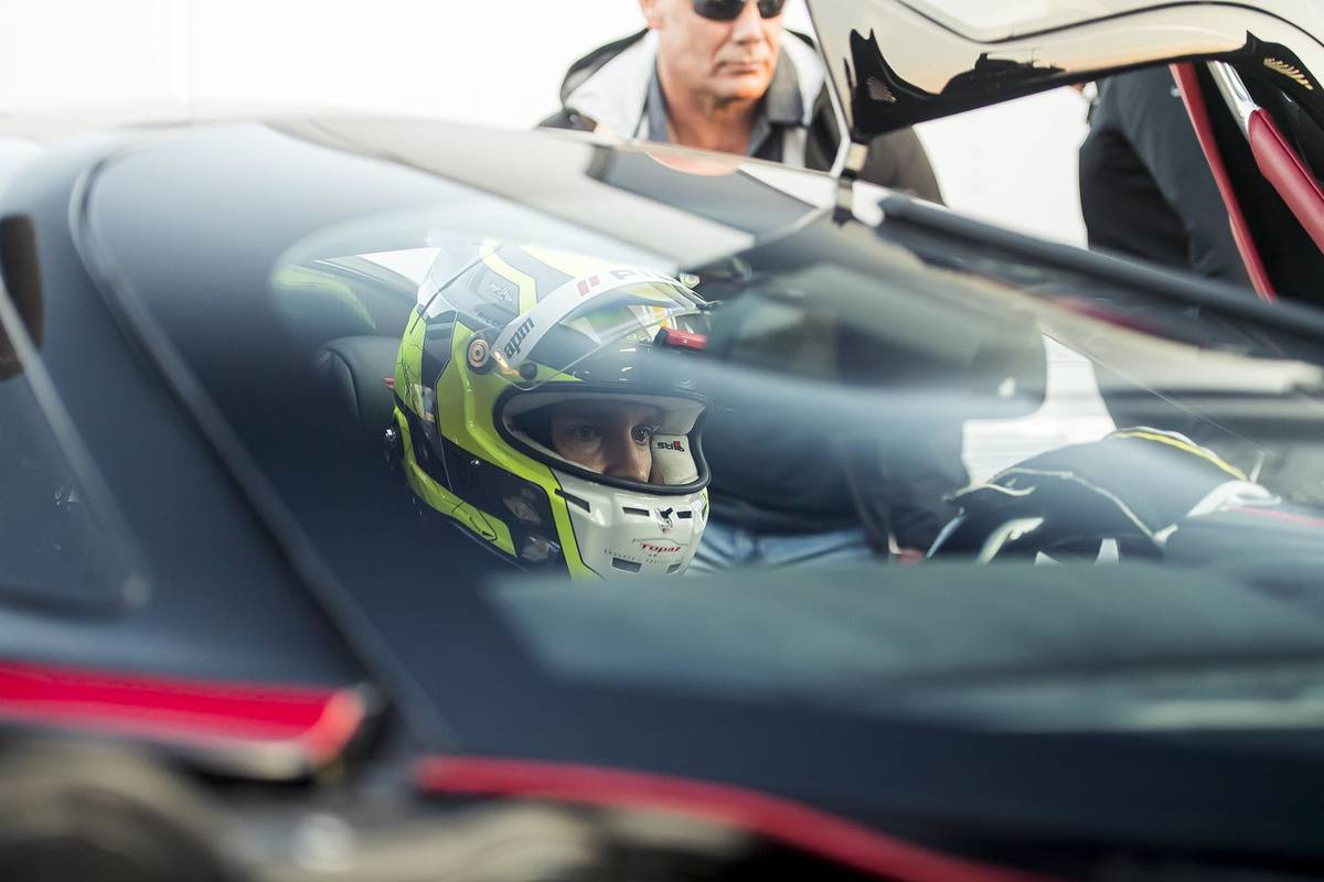 James Lipman/Special to the Pahrump Valley Times The SSC Tuatara, in accordance with the record ...
