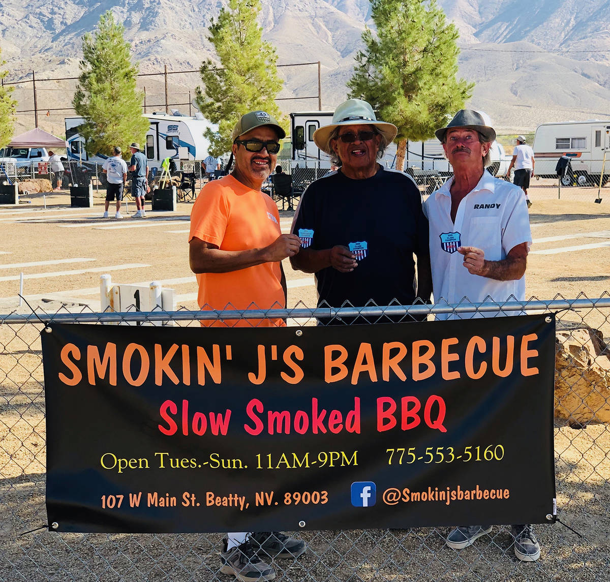 Lathan Dilger/Special to the Pahrump Valley Times Tournament champion Steve Lopez, Group B cham ...