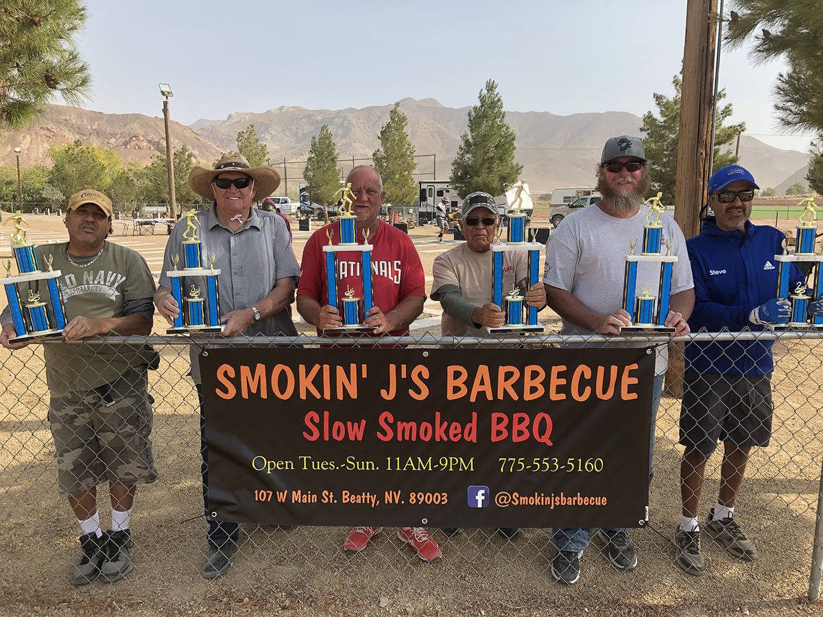 Lathan Dilger/Special to the Pahrump Valley Times Smokin' J's BBQ in Beatty provided trophies f ...