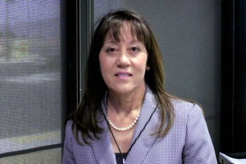 Jeffrey Meehan/Pahrump Valley Times Angela Evans, CEO of Valley Electric Association, stands in ...