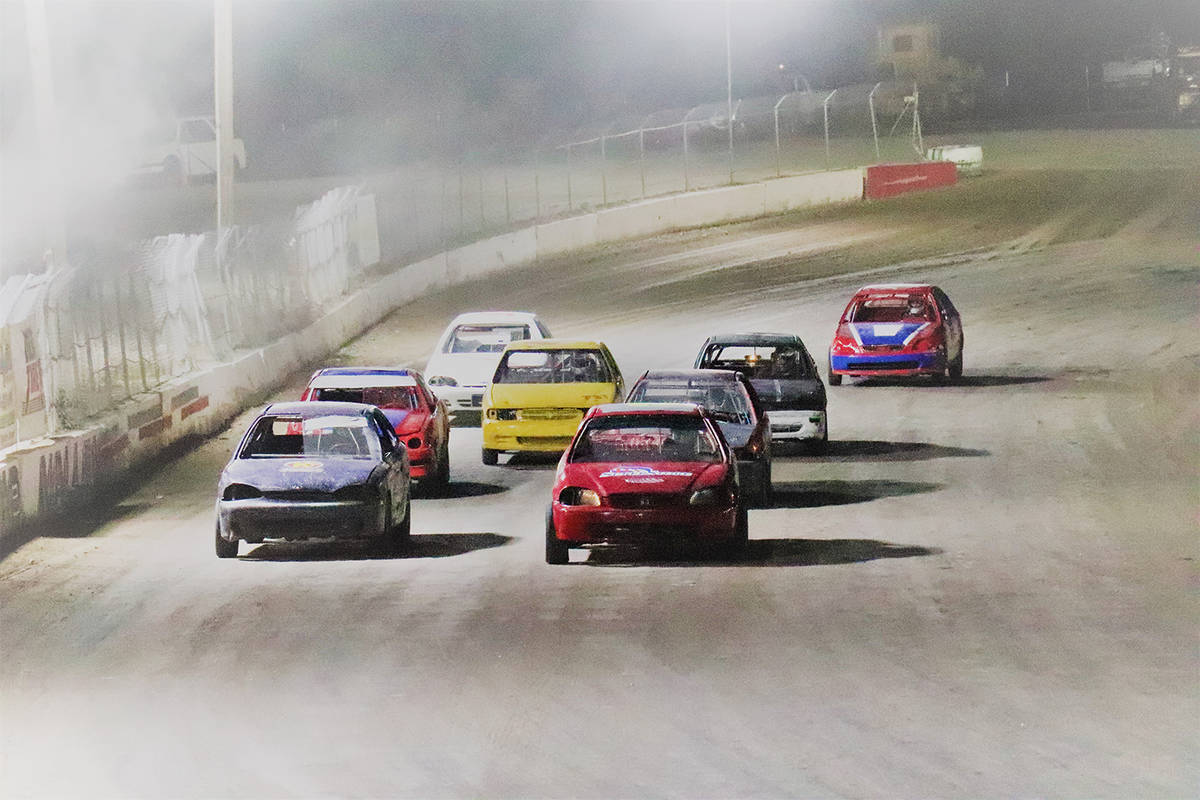 Digital Storm Photography/Special to the Pahrump Valley Times The last race of the night hits t ...