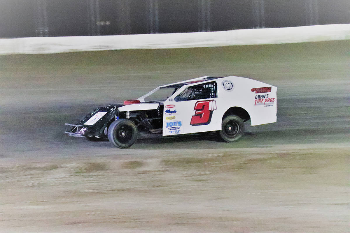 Digital Storm Photography/Special to the Pahrump Valley Times Shaun Moore hits the straightaway ...