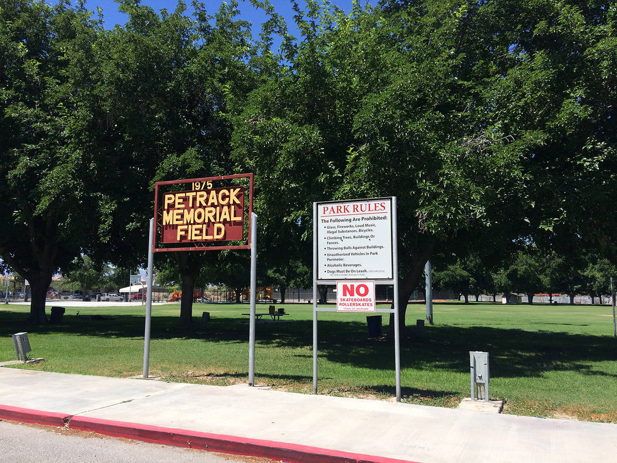 Robin Hebrock/Pahrump Valley Times Petrack Park in Pahrump on list for Nevada Commission of Tou ...